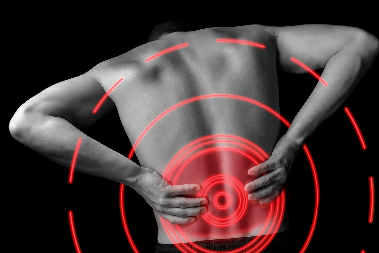 man with back pain from car accident in San Antonio